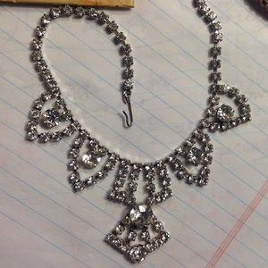 Vintage Rhinestone Killer Necklace Mint